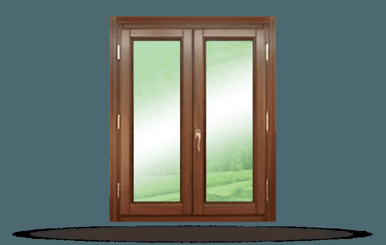 Finestra in legno modello New  Barocco