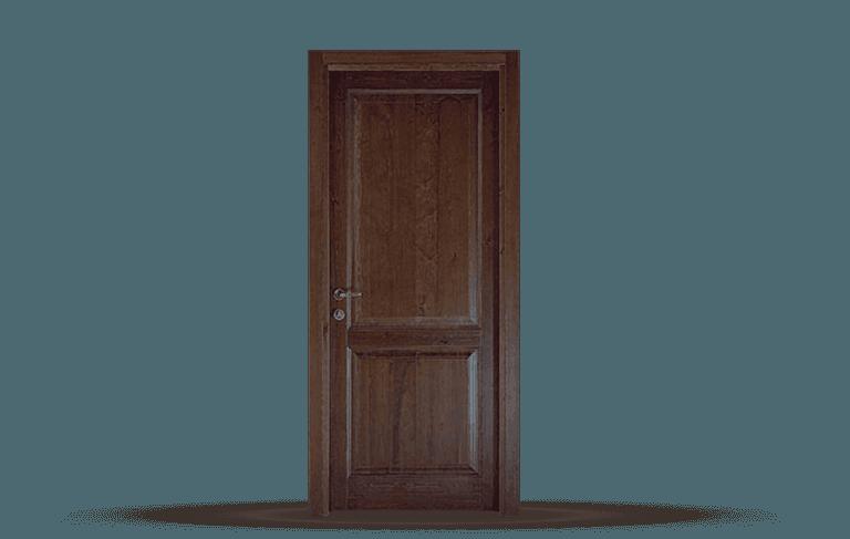 Porta interna in legno massello  Modello Siena C