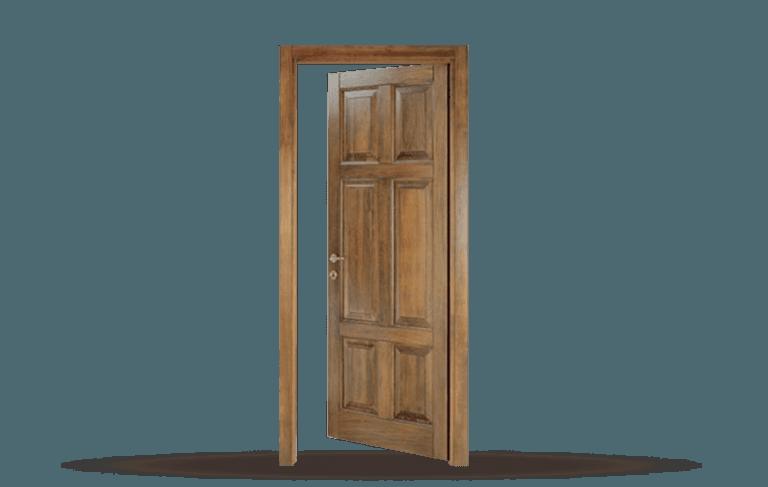 Porta interna in legno  massello Modello Roma
