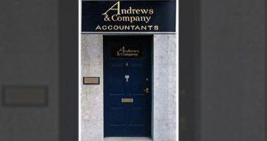 Entrance door to Andrews & Company