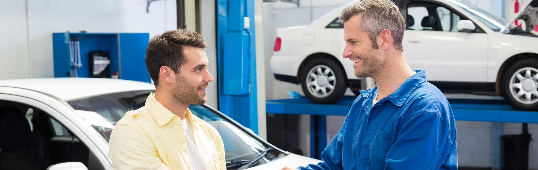city west automotive customer with mechanic