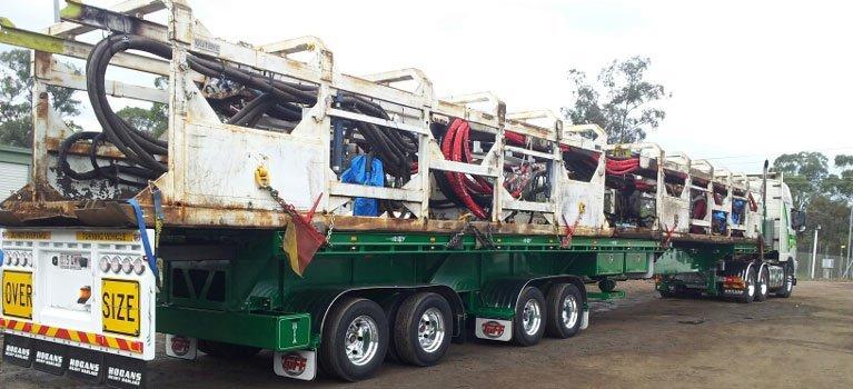 hogans heavy haulage pty ltd over size truck