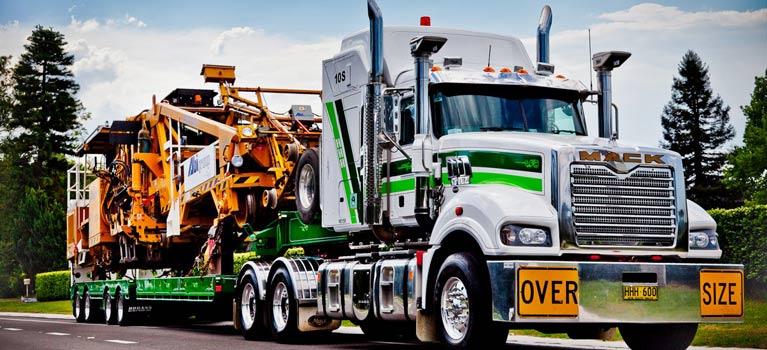 hogans heavy haulage pty ltd vehicle on truck