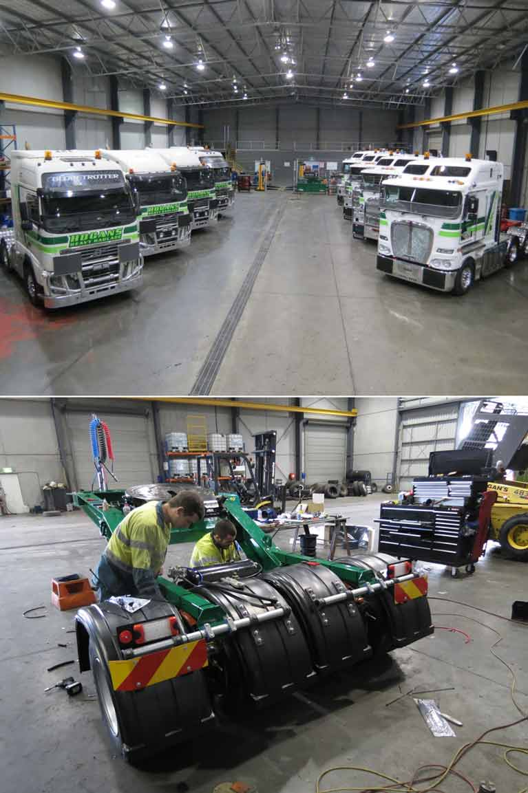 hogans heavy haulage pty ltd workshop