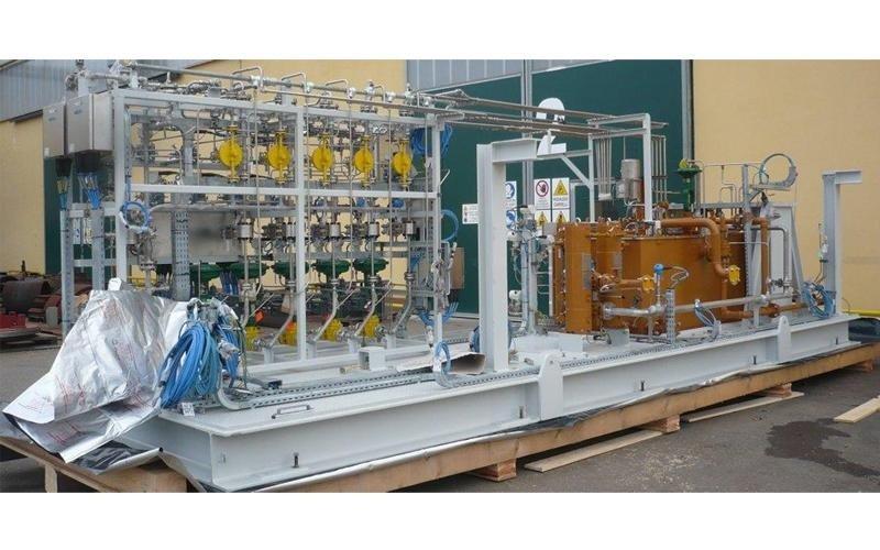 imballaggio su misura skid compressori