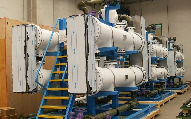 imballaggio su misura impianto trattamento acque