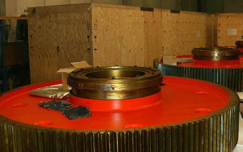 imballaggio su misura ingranaggi industriali per laminatoi
