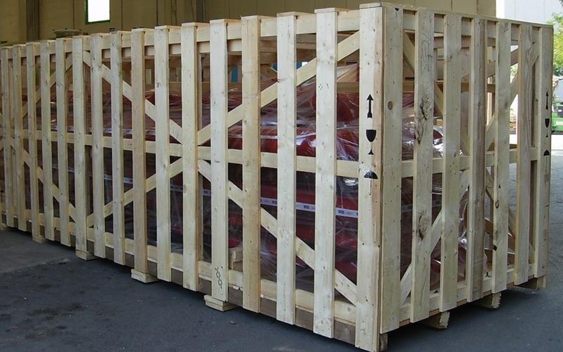 gabbia in legno imballaggio industriale