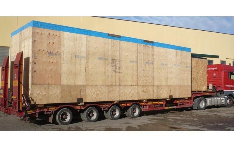 movimentazione imballaggi camion