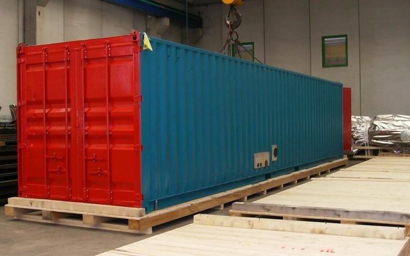 imballaggio industriale unità preassemblate container