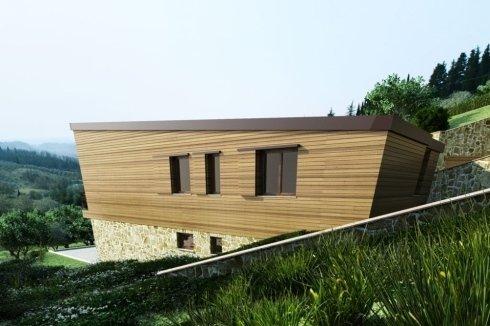 villa indipendente a due piani