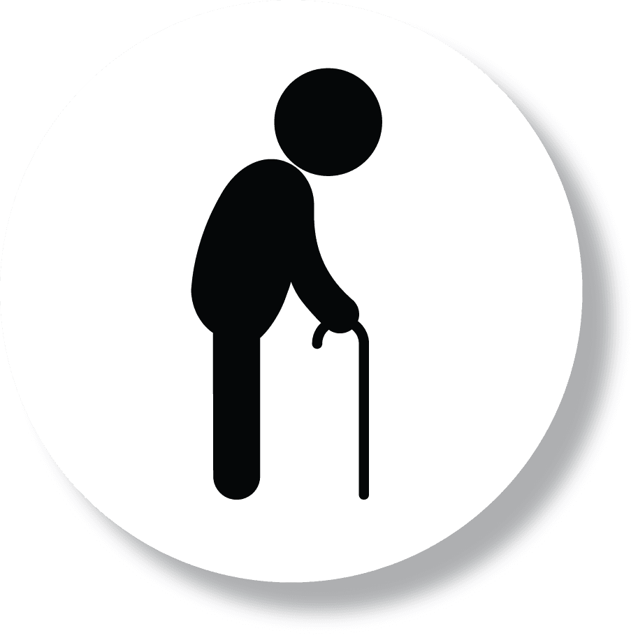icona di un'anziano