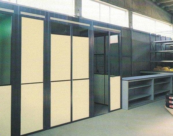 Ufficio di reparto alluminio laminato