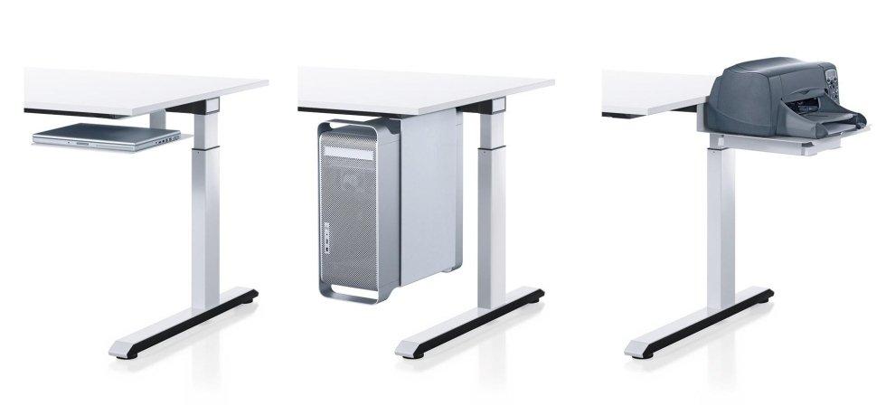 scrivania con porta stampante