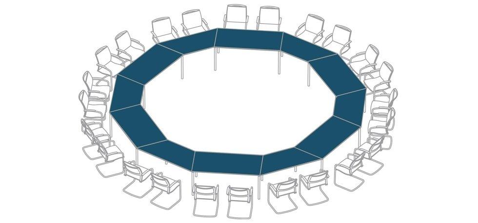 progetto scrivania per conferenze