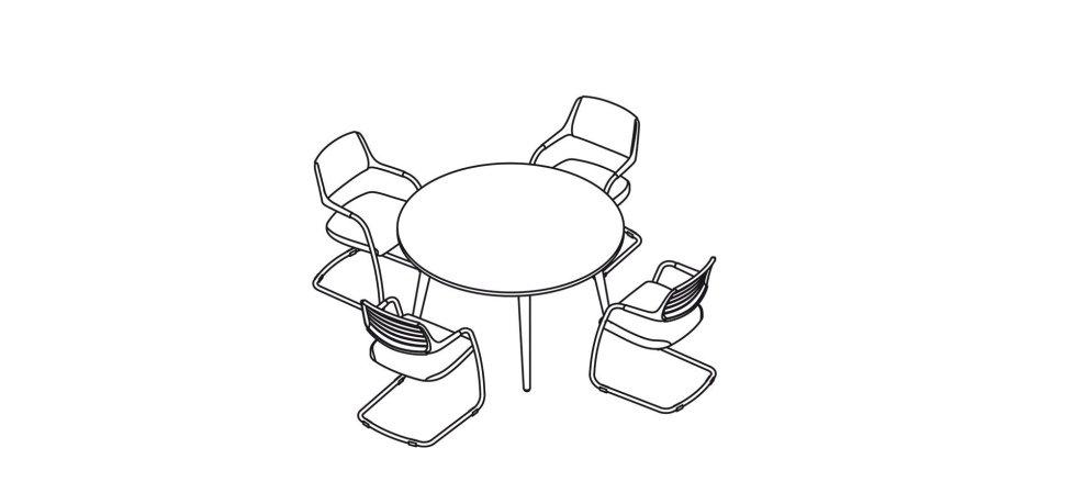 progetto scrivania tonda