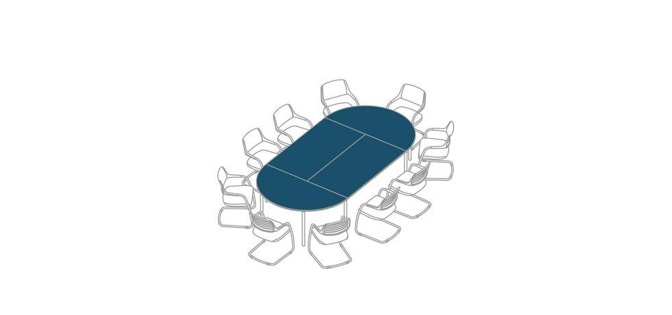 progetto scrivania per riunioni