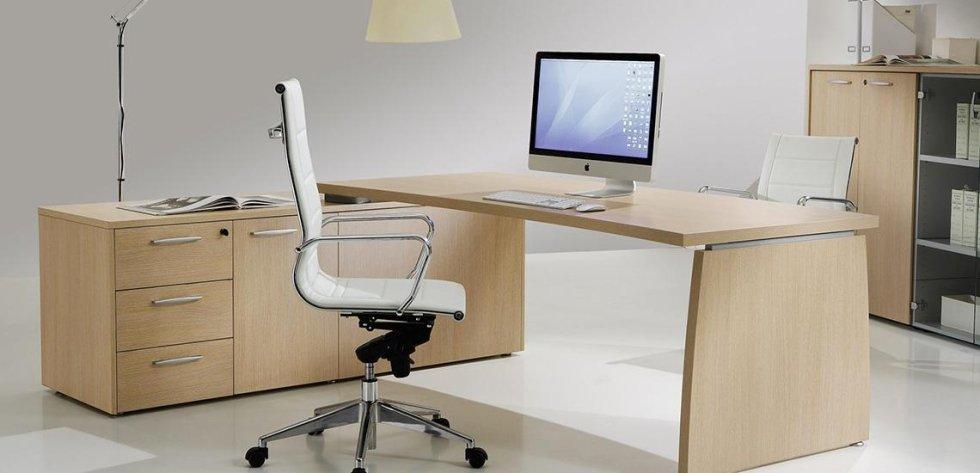 scrivania direzionale color noce_linea olimpo