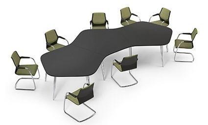 scrivania forma astratta colore nero