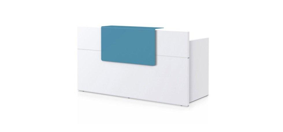 scrivania modello SEDUS con scaffale blu