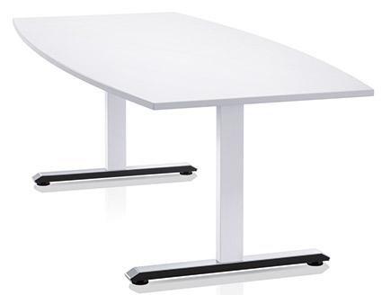 vista frontale scrivania bianca