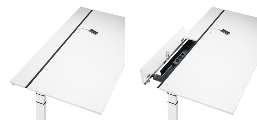 scrivania con sottocassetti