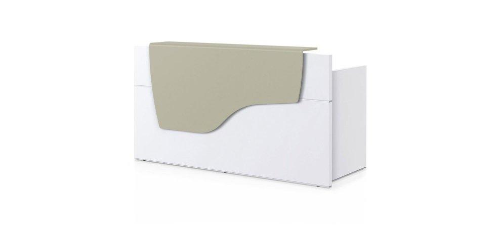 scrivania modello SEDUS con scaffale grigio
