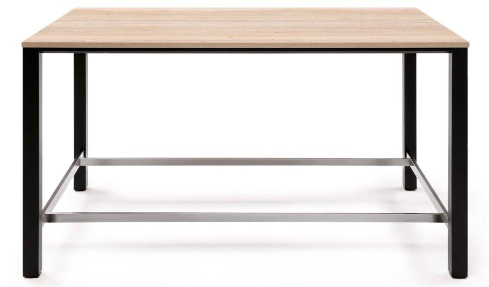 vista laterale di una scrivania in legno