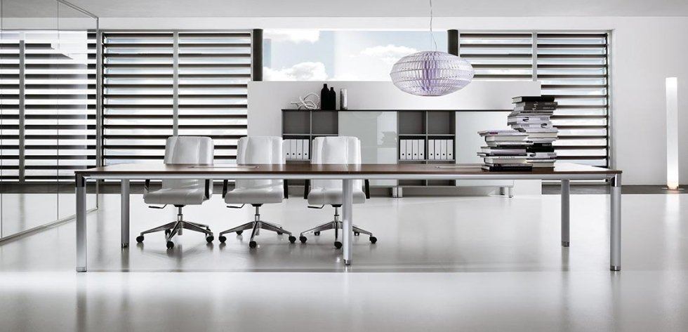 scrivania dirigenziale color bianco_linea lux