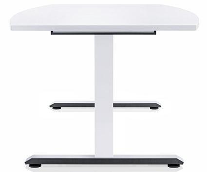 vista laterale scrivania bianca