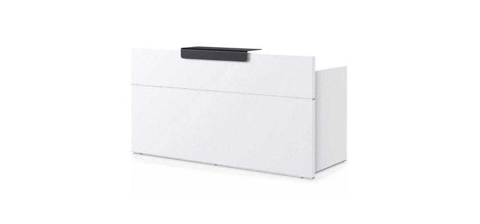 scrivania modello SEDUS bianca con scaffale nero