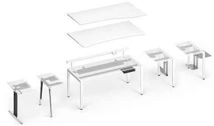 tavolo bianco da lavoro in team_linea attention sedus