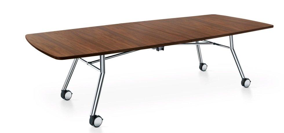 scrivania in legno  con ruote