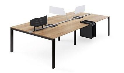 scrivania doppia in legno
