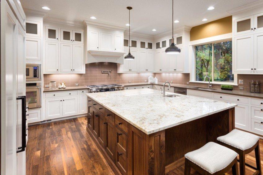 wood floor in kitchen