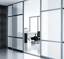 pareti di vetro
