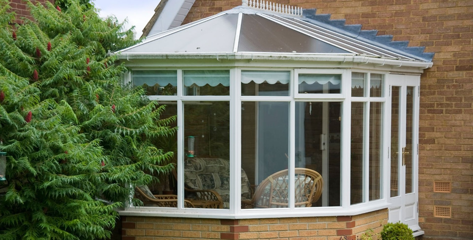Conservatory glass windows