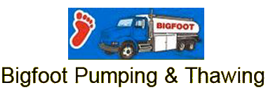 Bigfoot Pumping & Thawing logo