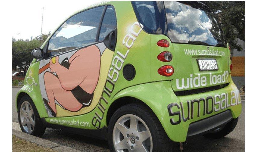 Sumo salad automobile  advertisement