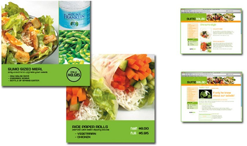 Sumo salad advertisement