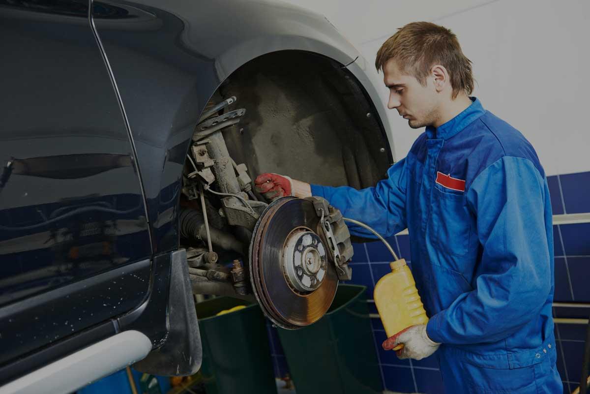 brake maintenance work