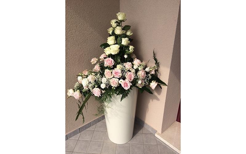 Composizione floreale per matrimoni