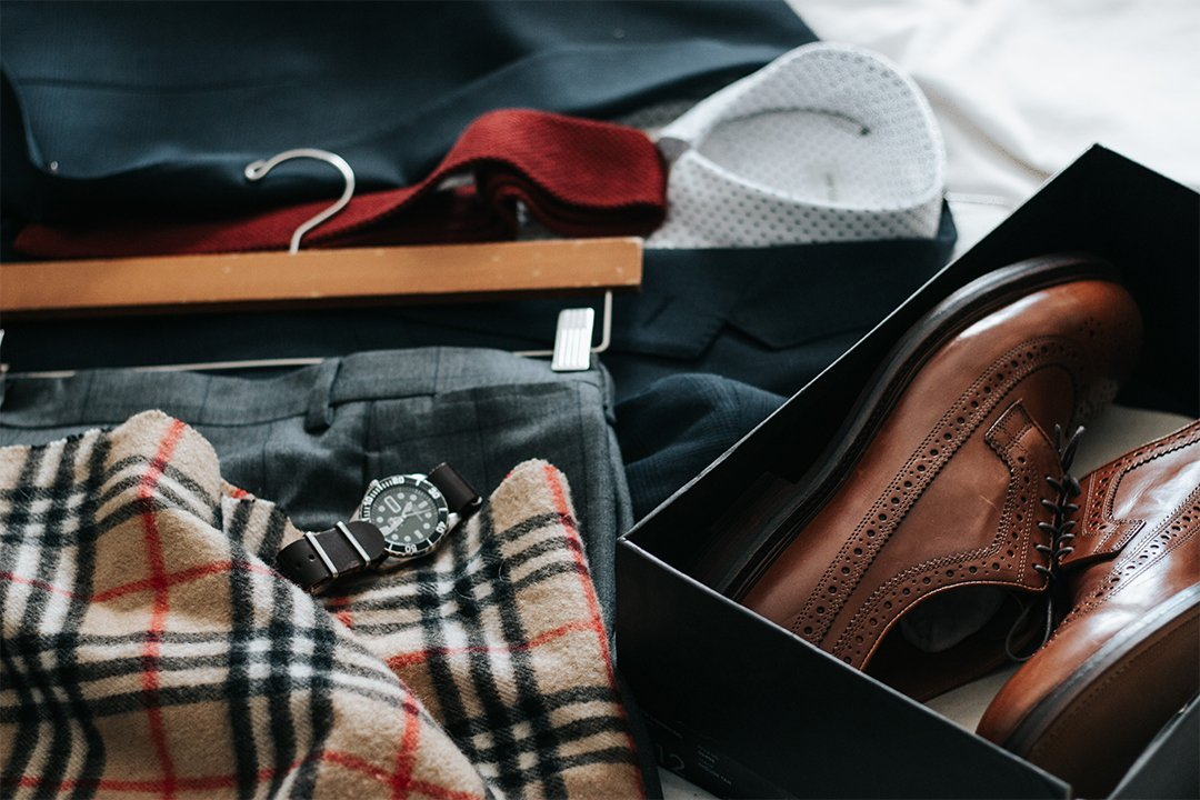 Clothes packed