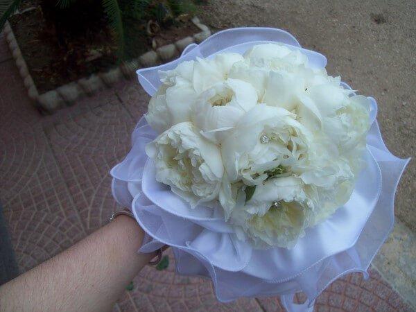 bouquet da sposa con velo