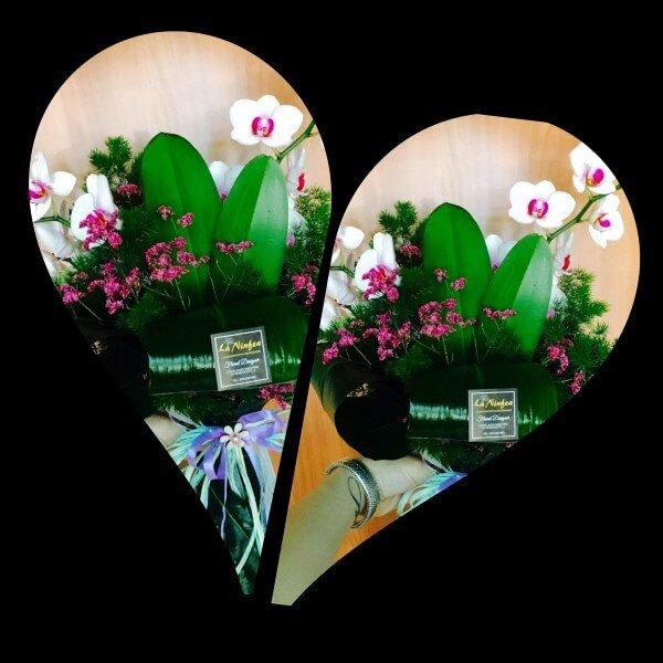 bouquet con orchidea