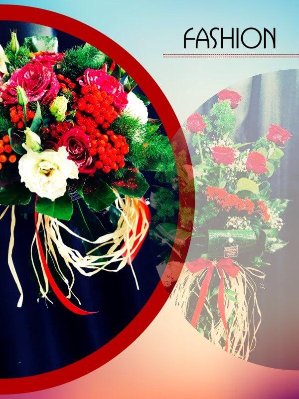 dettaglio bouquet natalizio