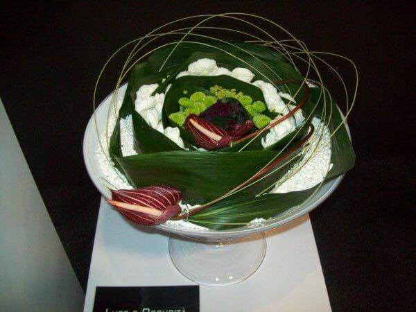 centrotavola moderno con fiori