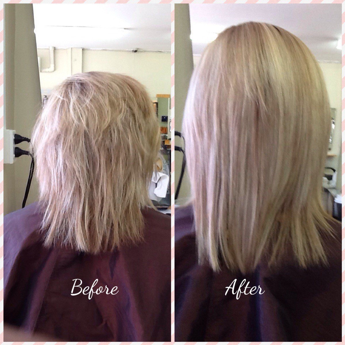 This Keratin smoothing was done by our Senior Jodi Hill