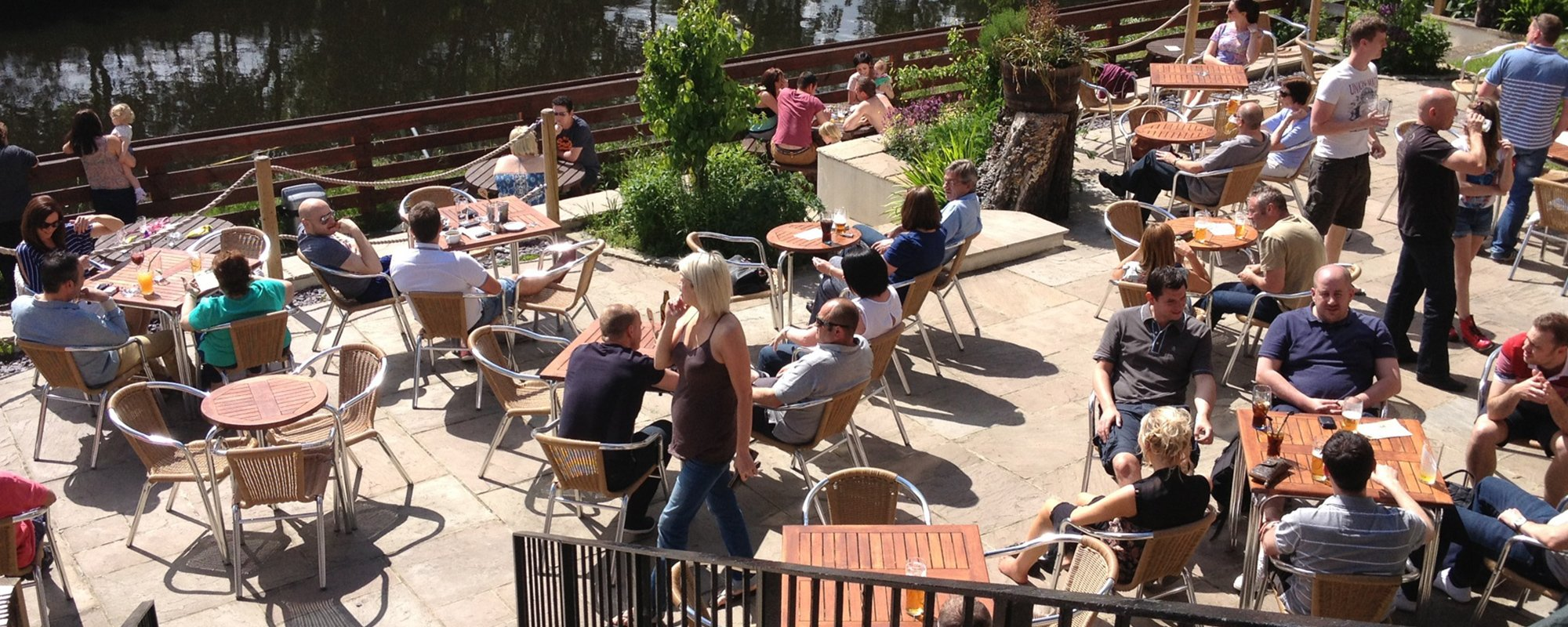 View of the customers enjoying at The Pear Tree Inn