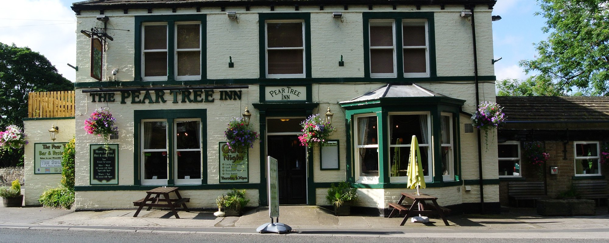 View of the entry of The Pear Tree Inn